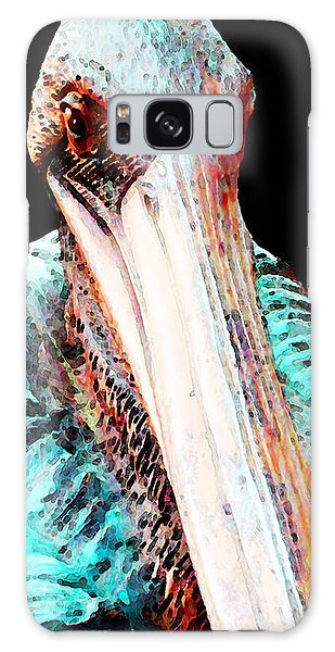 Rusty - Pelican Art Painting By Sharon Cummings Galaxy Case by Sharon Cummings