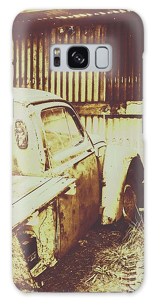 Truck Galaxy Case - Rusty Pickup Garage by Jorgo Photography - Wall Art Gallery