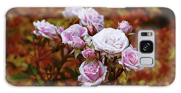Galaxy Case featuring the photograph Rusty Romance In Pink by Ivana Westin