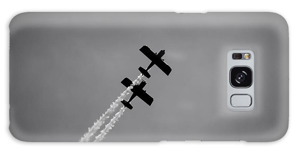 Galaxy Case featuring the photograph Rv8tors Silhouette Sunderland Air Show 2014 by Scott Lyons