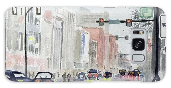 S. Main Street In Ann Arbor Michigan Galaxy Case by Yoshiko Mishina