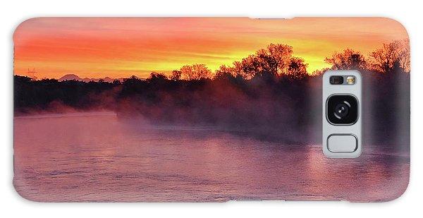 Sacramento River Sunrise Galaxy Case