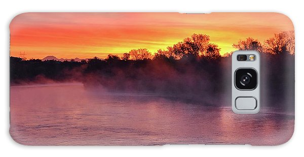 Sacramento River Sunrise Galaxy Case