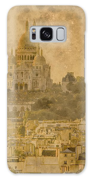 Paris, France - Sacre-coeur Oldplate Galaxy Case
