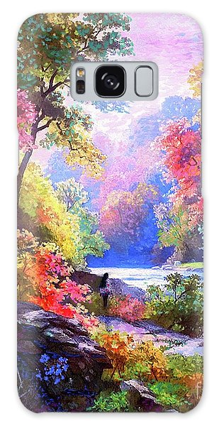 Foliage Galaxy Case - Sacred Landscape Meditation by Jane Small