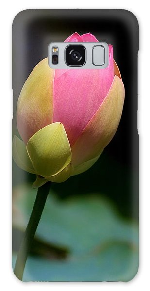 Sacred Lotus Bud 3 Galaxy Case