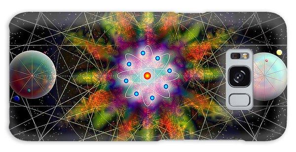 Sacred Planetary Geometry - Dark Red Atom Galaxy Case by Iowan Stone-Flowers