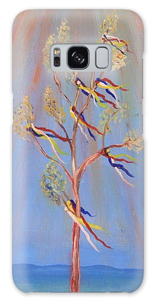 Sacred Sun Dance Tree Galaxy Case