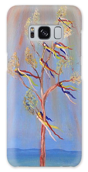 Sacred Sun Dance Tree Galaxy Case