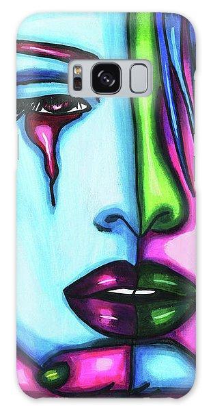 Sad Crying Woman Face Abstract Art Galaxy Case