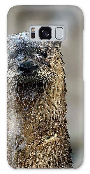 River Otter Galaxy Case - Soaking Wet by Karol Livote