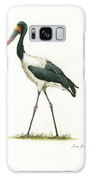 Crane Galaxy S8 Case - Saddle Billed Stork by Juan Bosco