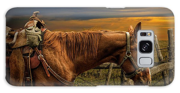 Saddle Horse On The Prairie Galaxy Case