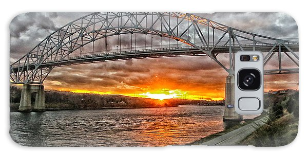 Sagamore Bridge Sunset Galaxy Case by Constantine Gregory