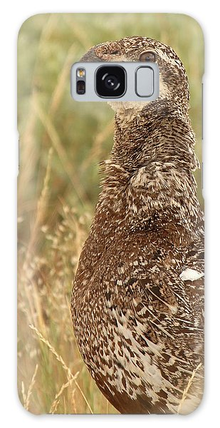 Sage Grouse Calling Galaxy Case by Max Allen