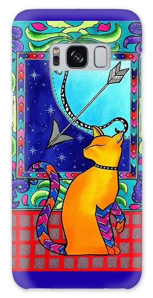 Sagittarius Cat Zodiac Galaxy Case