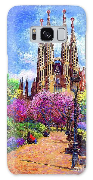Sagrada Familia And Park Barcelona Galaxy Case