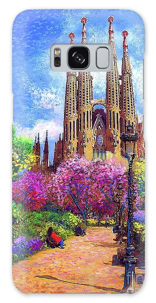 Joseph Galaxy Case - Sagrada Familia And Park Barcelona by Jane Small