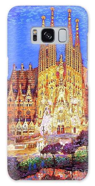 Arched Galaxy Case - Sagrada Familia At Night by Jane Small