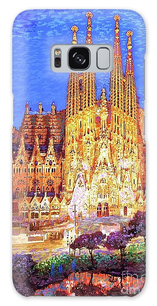Joseph Galaxy Case - Sagrada Familia At Night by Jane Small