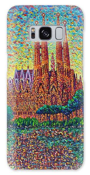 Sagrada Familia Barcelona Modern Impressionist Palette Knife Oil Painting By Ana Maria Edulescu Galaxy Case