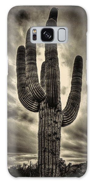 Saguaro And Storm Clouds Galaxy Case