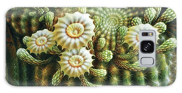 Saguaro Cactus Blossoms Galaxy Case