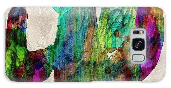 Saguaro Cactus Rainbow Print Poster Galaxy Case