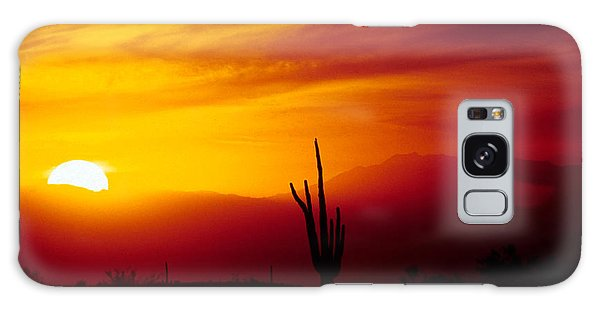 Saguaro Sunset Galaxy Case