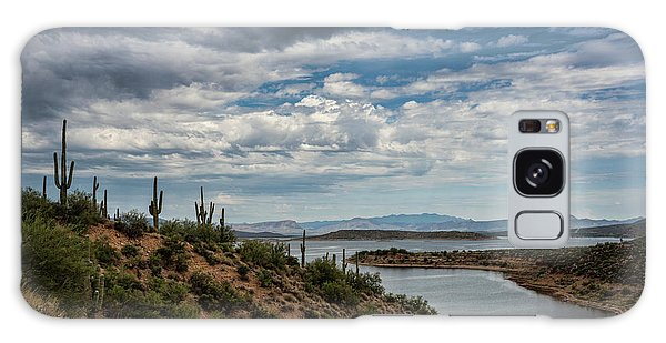 Galaxy Case featuring the photograph Saguaro With A Lake View  by Saija Lehtonen