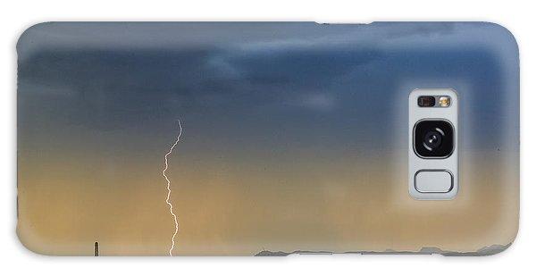 Saguaro With Lightning Galaxy Case