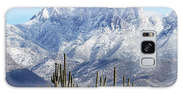 Saguaros At Four Peaks With Snow Galaxy Case by Tom Janca