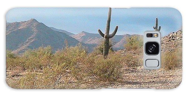 Saguaros On A Hillside Galaxy Case