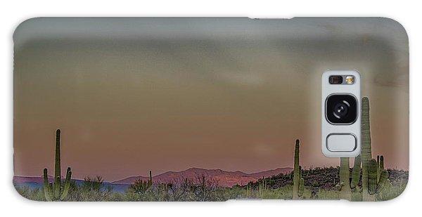 Saguaros Salute Rays Rising Galaxy Case