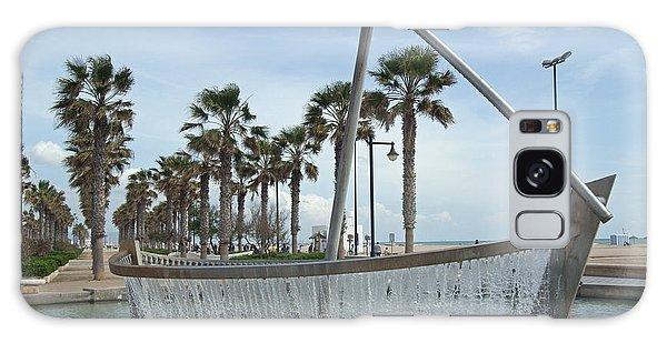 Sail Boat Fountain In Valencia Galaxy Case