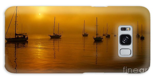 Sail Boats In Fog Galaxy Case