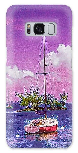 Sailboat At Reeds Bay Hilo Aloha Galaxy Case