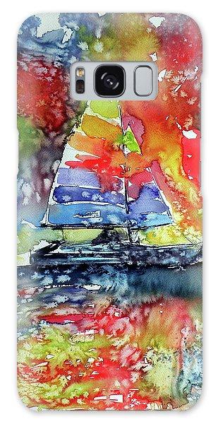 Sailboat At Sunset II Galaxy Case by Kovacs Anna Brigitta