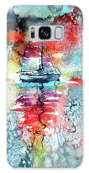 Sailboat At The Sinshine Galaxy Case by Kovacs Anna Brigitta