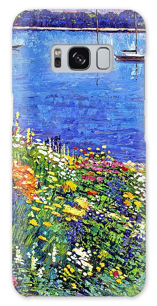 Sailboat Bay Garden Galaxy Case