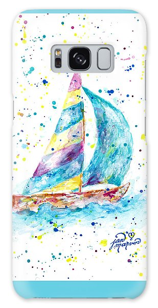 Sailboat By Jan Marvin Galaxy Case
