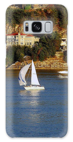 Sailboat In Vancouver Galaxy Case by Robert Meanor
