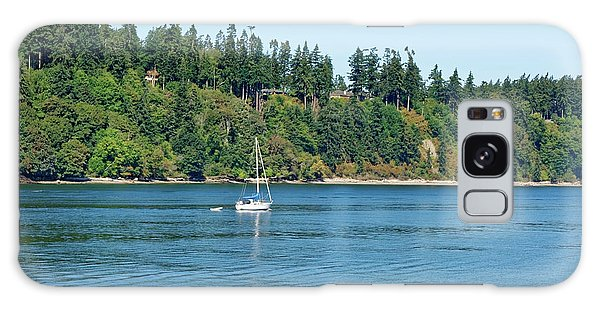 Sailboat Near San Juan Islands Galaxy Case