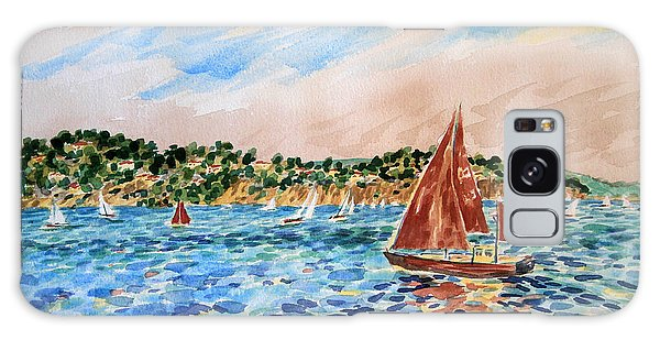 Sailboat On The Bay Galaxy Case