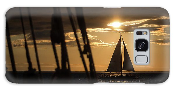 Sailboat On The Horizon Galaxy Case