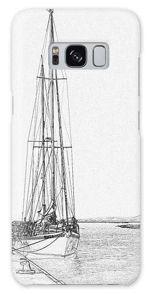 Galaxy Case - Sailboat Porto San Stefano Pen And Ink 4773 by Bob Neiman
