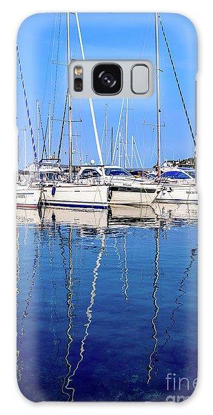Sailboat Reflections - Rovinj, Croatia  Galaxy Case