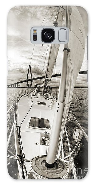 Sailboat Sailing Past Arthur Ravenel Jr Bridge Charleston Sc Galaxy Case