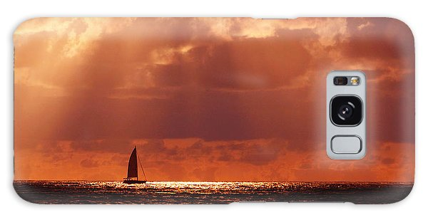 Sailboat Sun Rays Galaxy Case