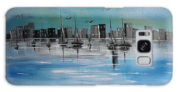 Sailboats And Cityscape Galaxy Case